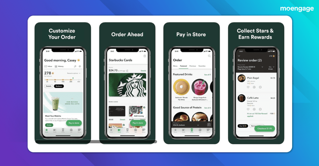 Srarbucks provides a highly personalized experience to customers