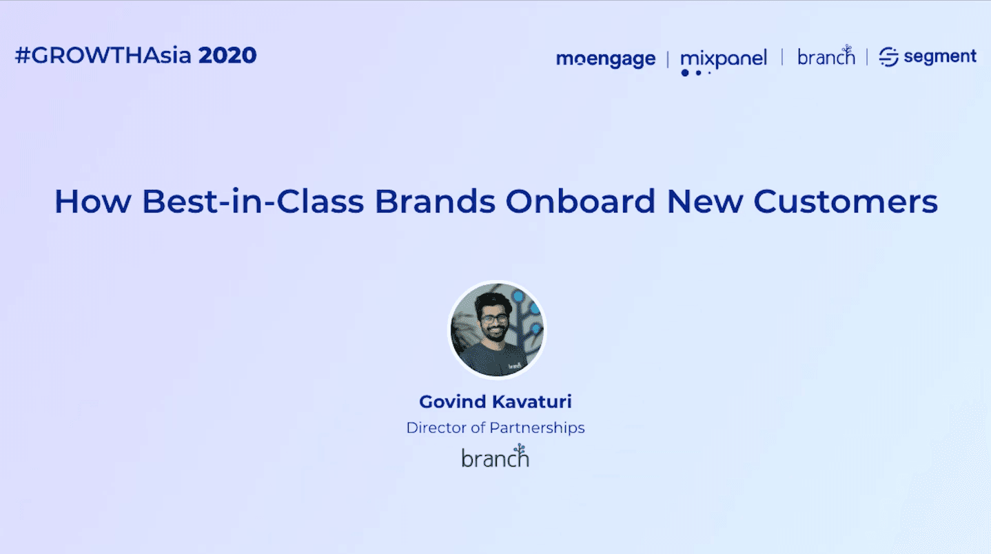 onboarding new users #GROWTHAsia 2020